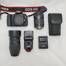 Canon EOS 60D Digital Camera with Bag, Two Lens, Flash, and Memory Card