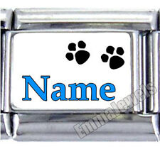ANY NAME PAW PRINTS UBERRY 9MM ITALIAN PHOTO CHARM