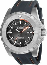 New Men's Invicta 23737 Pro Diver Charcoal Dial Grey Polyurethane Watch