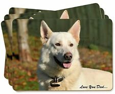 White German Shepherd 'Love You Dad' Picture Placemats in Gift Box, DAD-133P
