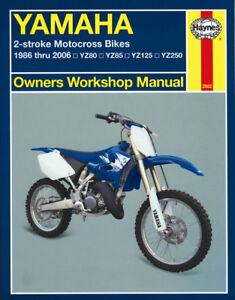 1986-2006 Yamaha YZ 80 85 125 250 YZ80 YZ85 YZ125 YZ250 HAYNES REPAIR MANUAL