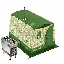 All-Season Double-Layered Mobile Sauna Tent MB-332  + Wood Heater-Stove Mediana