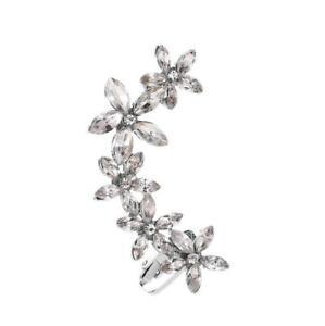 Fashion Crystal Clip Ear Cuff Stud Women's Punk Wrap Cartilage Earring Jewelry #