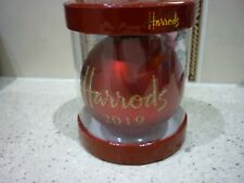 HARRODS 2019 CHRISTMAS BAUBLE RED DATED NEW UNOPENED