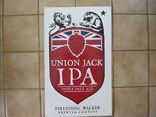 "FIRESTONE Union Jack IPA metal Bar sign,Man cave - Official 17"" W x24""T"
