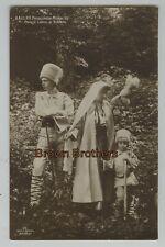 1910 Crown Princess Mary of Romania with Children Carol & Nicholas RPPC