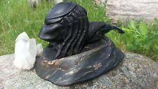 Fajka Predator rzeźbiona z Gruszy grusza unikat kwarc dymny