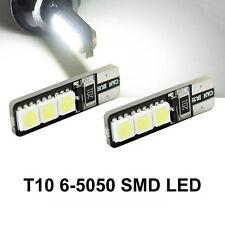 10x White T10 LED W5W Car Dash Tail Side Park Light Blub super bright canbus 12V