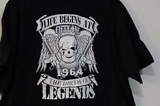 LIFE BEGINS AT 51 1964 THE BIRTH OF LEGENDS SKULL BIRTHDAY TEE BLACK SIZE XL NEW