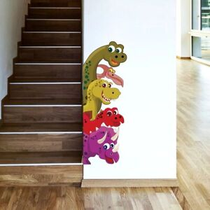 Funny Probe Dinosaur Behind the door Room Decor wall Decals Mural Wall Stickers