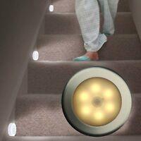 Wireless Night Light PIR Motion Auto Sensor 6 LED Lamp Lights Battery Operated #