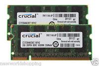 Crucial 4GB 2X 2GB PC2-5300 DDR2-667Mhz 200pin Laptop SODIMM Memory RAM PC2-5300