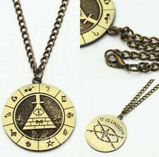 Gravity Falls Bill Cipher Necklace With Vintage Display Box Brozen Pendant Otaku