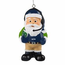 Seattle Seahawks Coach Santa Resin Holiday Christmas Tree Ornament New