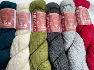 Mirasol Llama Una Yarn. 50g hanks. 100% Llama. Our price £9.50