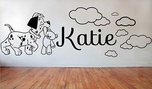 101 DALMATIAN Puppy Dog Clouds Nursery Wall Vinyl Stickers Bedroom Kids Children