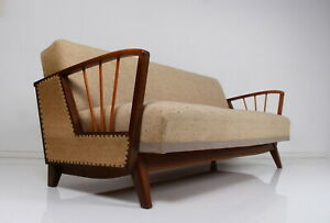50s 60s sofa bed daybed in great condition - firm spring upholstery - clean
