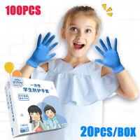 100Pcs Children Multifunctional Disposable Nitrile Latex Gloves For boys girls