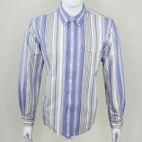 Ralph Lauren Men's Purple White Striped Long Sleeve Button Down Size Large L