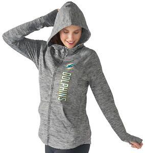 "Miami Dolphins Women's NFL G-III ""Recovery"" Full Zip Hooded Sweatshirt"
