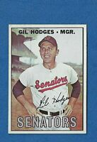 1967 Topps Baseball CARD #228 GIL HODGES NM WASHINGTON SENATORS