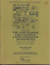 ALMANZAR'S King Farouk Collection Latin American Banknotes Auction Catalog 1972