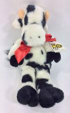"Manhattan Toy Cow Sleeping Closed Eyes 15"" Plush Stuffed Animal Doll 1990 NEW"