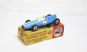 Dinky 240 Cooper Racing Car In Its Original Box - Nice Vintage Model