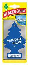 Wunderbaum® 10 Stück Sportfrische Lufterfrischer Duftbaum Duft Auto Blau