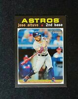 2020 Topps Heritage JOSE ALTUVE MINI PARALLEL VARIATION #d /100 #264 Astros