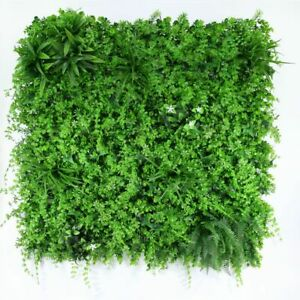Exterior Artificial Green Tropical Wall Panel UV Resistant 1m x1m Backdrop Decor
