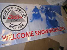 NEW VERY COOL COORS LIGHT BEER BANNER PUB MAN CAVE WELCOME SNOWMOBILE