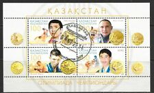 2005 Kazakhstan miniature sheet featuring Olympic Champions that is used