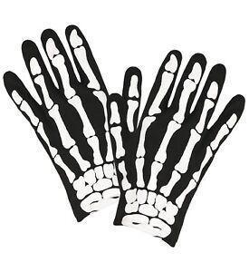 Skelett Knochen Handschuhe Kinder Halloween Horror passend zum Kostüm