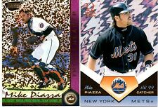 Mike Piazza 1999 Pacific Omega HR '99 #2 & RevolutionTripleheader #6 -LOT of 2