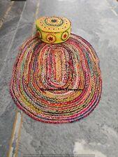 Hippie Bedroom Floor Mat Handmade Indian Jute Carpet Throw Traditional Rugs Mat