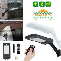 48/60LED Solar PIR Motion Sensor Wall Light Outdoor Street Lights+Remote Control