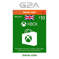 Xbox Live £10 GBP Key Card - 10 Pounds Code for Microsoft XONE / Xbox 360 UK NEW