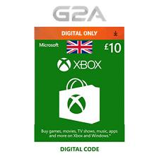 Xbox Live £10 GBP Key Card - 10 Pounds Code for Microsoft XONE / Xbox 360 UK NEW