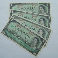 Canada 1967&1954  1 Dollar Bill Canadian Note Mint Uncirculated CRISP Banknote