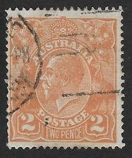Australia -1915-1923 King George V 2 d. Used Stamp (FBox)