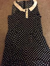 Ladies Black & White Polka Dot Short Playsuit