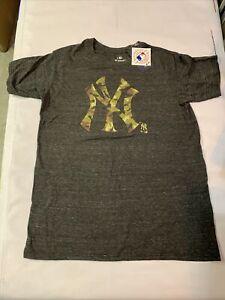 New Men's Original Fanatics MLB New York Yankees T-shirt Sz L Ash