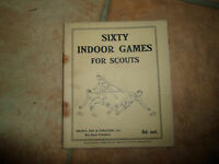 VINTAGE ~ Sixty Indoor Games for Scouts ~ 1946 + Illustrated With Diagrams