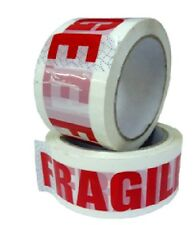 6 ROLLS FRAGILE PACKING TAPE 50mm x 66m High Quality