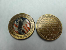 CHALLENGE COIN ANTI TERRORIST TASK FORCE IRAQ QUOTE FROM JOHN F KENNEDY