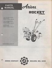 ARIENS ROCKET TILLER  PARTS MANUAL P/N PM-1-77  (042)