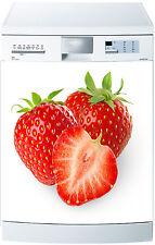 Sticker lave vaisselle Fraise 60x60cm réf 099
