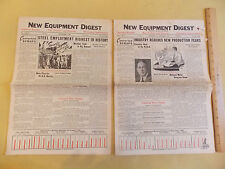 Sep + Oct 1936 New Equipment Digest Steel Machines Chicago Industry VINTAGE!!!!!