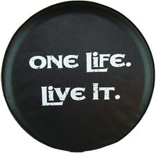 """SpareCover® ABC Series - One Life Live It 27"""" HD 35 Mil Vinyl Tire Cover 4 Honda"""